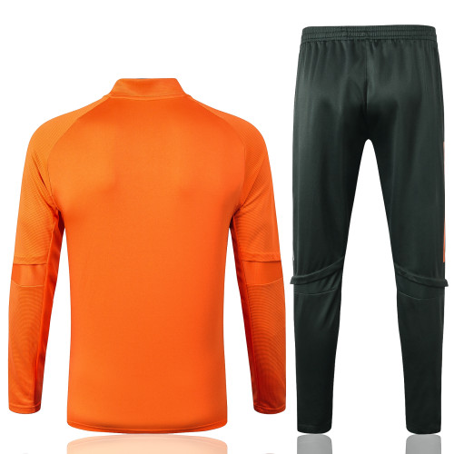 Manchester United Training Jersey Suit 20/21 Orange