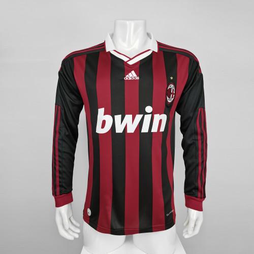 AC Milan Home Long Sleeve Retro Jersey 90/10