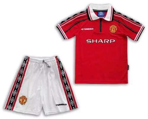 Manchester United Retro Kids Home Jersey 98/99