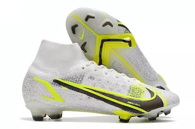 Mercurial Superfly 8 Elite FG White/Metallic Silver/Volt/Black Soccer Shoes