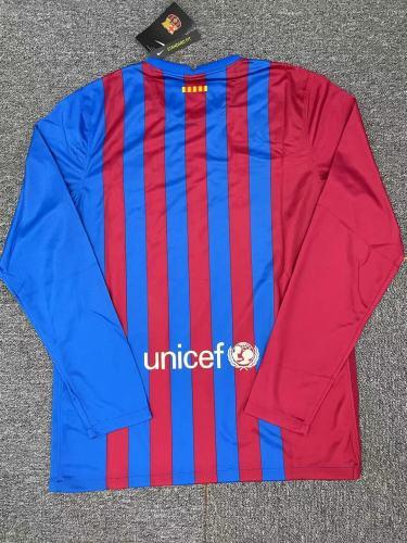 Barcelona Home Men Long Sleeves Jersey 21/22