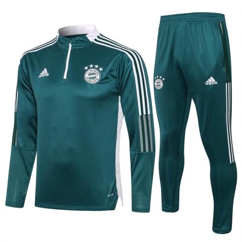 Bayern Munich Training Jersey Suit 21/22 Dark green