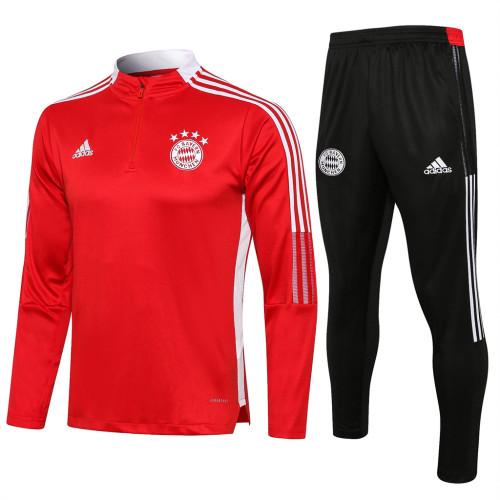 Bayern Munich Training Jersey Suit 21/22 Red