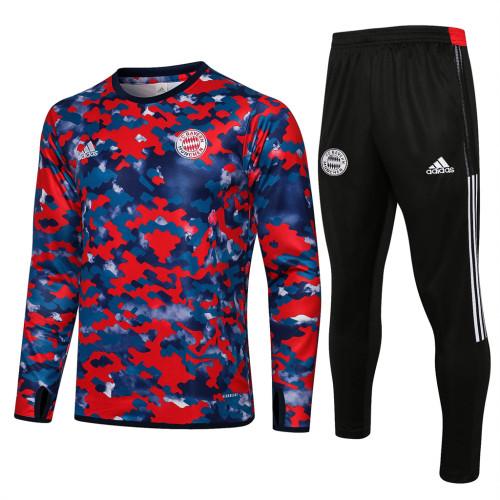Bayern Munich Training Jersey Suit 21/22 Blue red