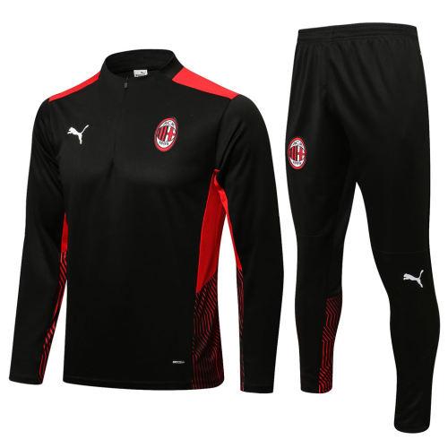 AC Milan Training Jersey Suit 21/22 Black