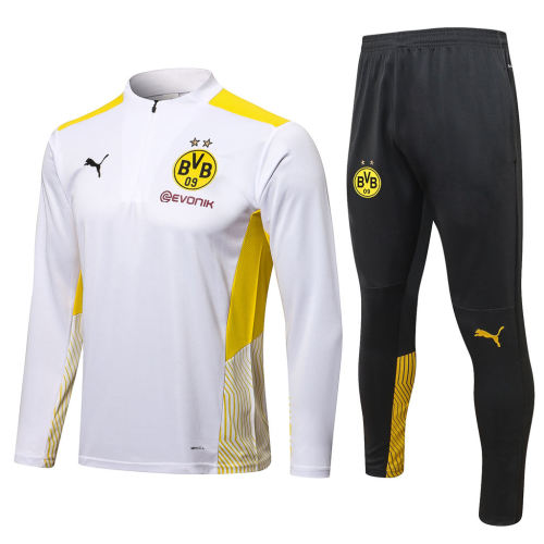 Borussia Dortmund Training Jersey Suit 21/22 White