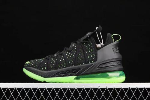 Nike lebron18  junkman  black and green