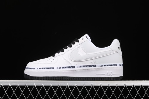 Air Force 1'07 Low x Uniterrupted White and blue graffiti