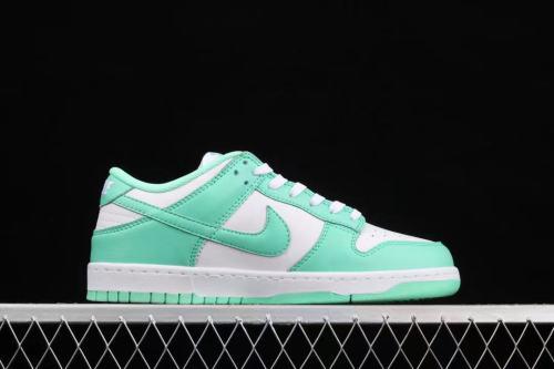Nike Dunk Low  White/Green Glow