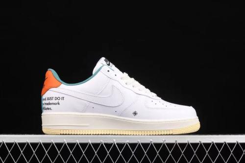 Nike Air Force 1 白绿橙