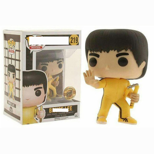 Bruce lee Yellow  action figures toy for collection model  #219