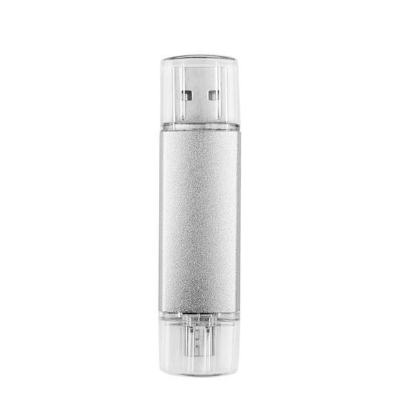USB 2.0 OTG Pen Drive Metal USB Flash Drive 4GB 8GB 16GB 32GB 64GB Double Use Pendrive Flash Drive