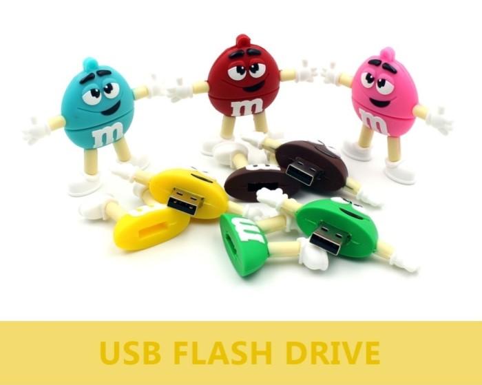 usb flash drive pen drive pendrive 8GB 16GB 32GB 64GB u disk cute MM rainbow beans bulk flash memory stick