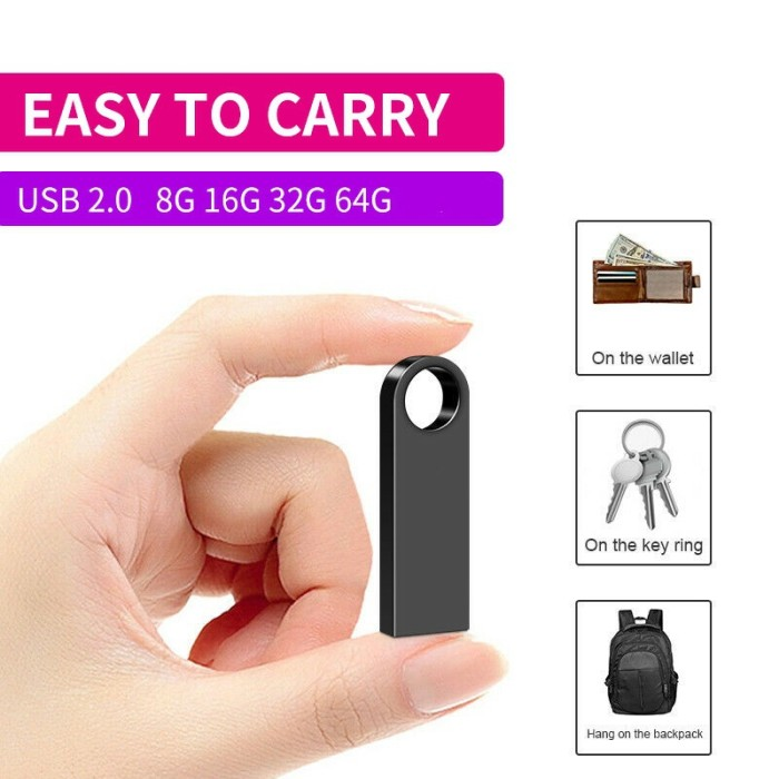 Metal Mini USB Flash Drive 64GB 32GB 16GB 8GBpendrive Cle USB Flash Stick Pen Drive 8 16 32 64GB USB Stick