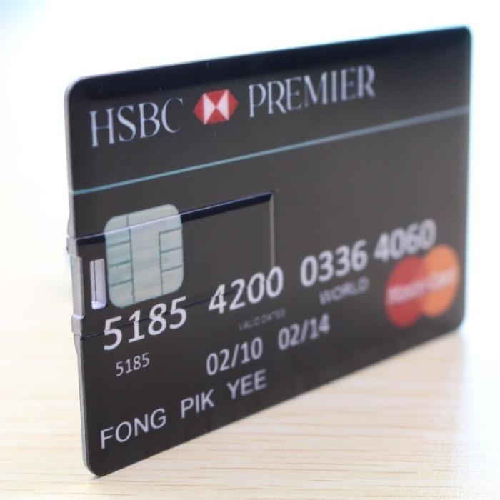 Credit card USB Flash Drive Pen Drive Pendrive 3 Flash Drive 4-64GB Memory Stick Drives