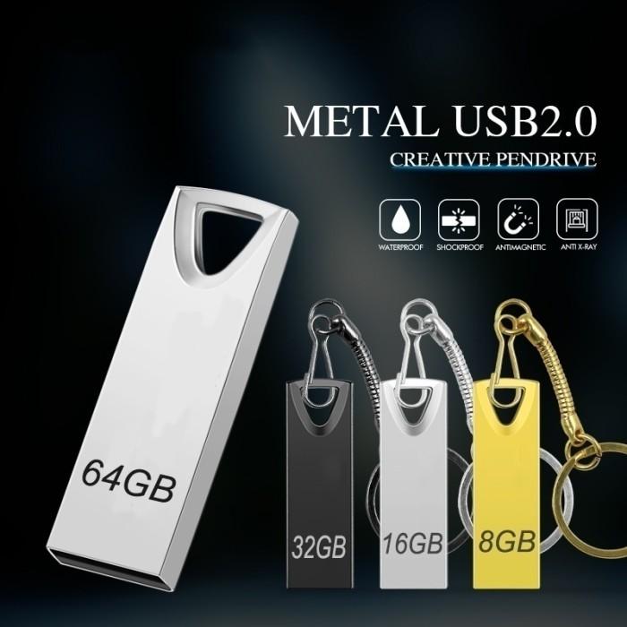 Hot Sale USB 2.0 Memory Mini Waterproof USB Flash Drive 8GB 16GB 32GB 64GB U Disk Key Pendrive Metal Pen Drive