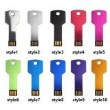 New 64GB USB Flash Drive Metal Key Pendrive 32g 16g 8g 4g Waterproof Pen Drive USB2.0 Memory Stick USB Flash Custom Metal