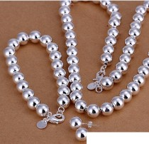 High grade 925 sterling silver '10MM prayer beads three-piece - hollow - Men jewelry set DFMSS082 brand new Factory direct 925 silver