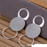 High grade 925 sterling silver Dual sand O piece jewelry set DFMSS017 brand new Factory direct 925 silver necklace earring