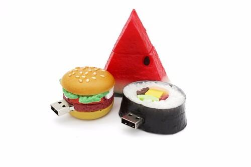 Hamburger food usb flash drive creative sushi watermelon pendrive pen drive 4gb 16gb 32gb 64GB memory stick u disk gift