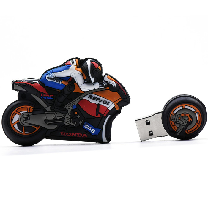 Cool Motorcycle Usb Flash Drives 32GB 16GB 8GB 4GB Pen Drive 64GB 128GB Memory Stick Cartoon Pendrive U Stick Pen Drives Gift