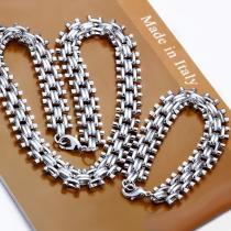 High quality 925 sterling silver  jewelry sets chain Bracelet  925silver necklace set Wholesale mix order  LS-53.