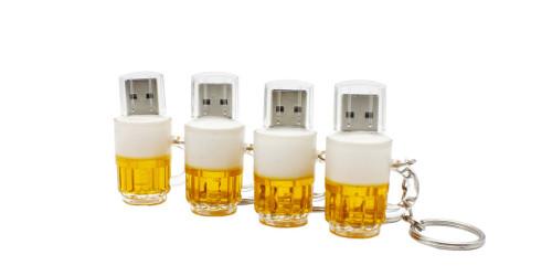 fashion USB creative beer mug USB 2.0 USB Flash Drive pendrive 4GB 8GB 16GB 32GB 64GB memory stick gift Free shipping
