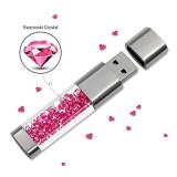 Fashion Real Capacity Usb Flash Drive 32GB 64GB Crystal Pen Drive 16GB Usb Stick 8GB Pendrive Memory Stick U Disk Flash Drive