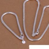 High grade 925 sterling silver '4MM snake bone chain piece - Men jewelry set DFMSS065 brand new Factory direct 925 silver necklace bracelet