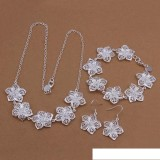 High grade 925 sterling silver Flower Parure jewelry sets DFMSS450 brand new Factory direct sale wedding 925 silver