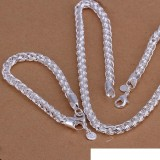 High grade 925 sterling silver Twisted ring piece - Men jewelry set DFMSS059 brand new Factory direct 925 silver necklace bracelet