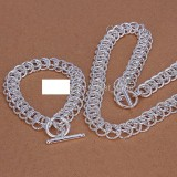 very heavy Centipede shape 925 sterling silver jewelry sets LS-07.women's 925 silver plated neckace bracelet set.support Wholesale, retail,