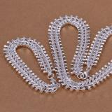 so heavy Fishbone shape 925 sterling silver jewelry sets LS-21.fashion 925 silver plated neckace bracelet set.support Wholesale, retail