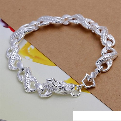 High grade 925 sterling silver Little White Dragon piece - Men jewelry set DFMSS094 Factory direct 925 silver bracelet ring