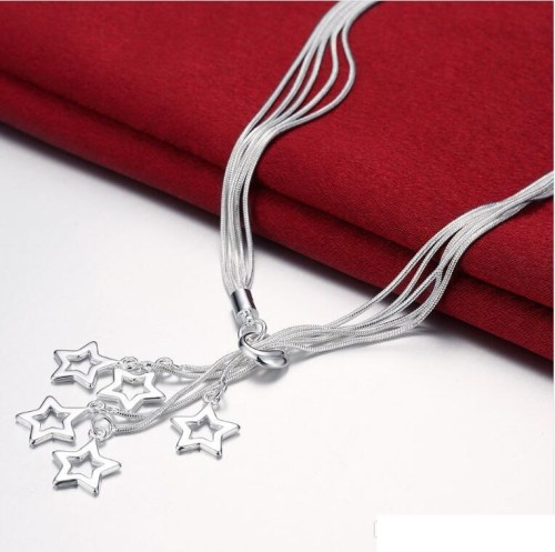 High grade 925 sterling silver Tai Chi hanging empty five-star three-piece jewelry set DFMSS138 Factory direct necklace bracelet earring
