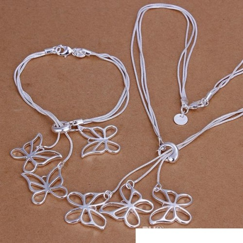 High grade 925 sterling silver Tai Chi hanging piece three discs jewelry set DFMSS158 brand new Factory direct 925 silver necklace bracelet