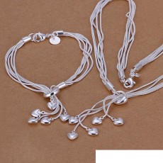 High grade 925 sterling silver Tai Chi hanging piece Star jewelry set DFMSS009 brand new Factory direct 925 silver necklace bracelet
