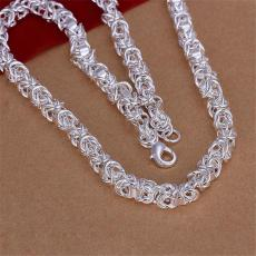 New arrival Leading Shrimp Buckle Necklace Men sterling silver plate necklace STSN061,fashion 925 silver Chains necklace factory direct sale