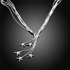 Free shipping Tai Chi Star necklace hanging sterling silver plate necklace STSN091,hot sale fashion 925 silver Chains necklace factory sale