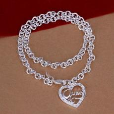 Free shipping Heart Necklace sterling silver plate necklace STSN175,hot sale fashion 925 silver Chains necklace factory direct sale