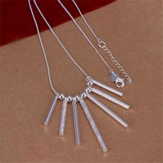5pcs Seven Pillars of necklace sterling silver plate necklace STSN094,hot sale fashion 925 silver Chains necklace factory direct sale