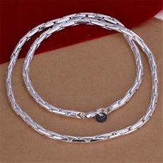 Hot sale Discount men's necklace sterling silver plate necklace TSN059,fashion 925 silver Chains necklace factory direct sale christmas gift
