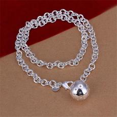 Hot sale Lob necklace sterling silver plate necklace STSN045,brand new fashion 925 silver Chains necklace factory direct sale christmas gift