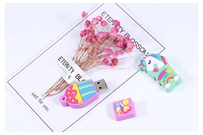 Cartoon the new unicorn Pen Drive 64GB 32GB usb Flash Drive Pendrive 16GB 4GB Memory Stick u disk fashion gift