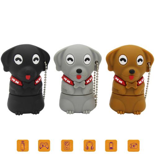 Lovely Pet Dog Pen Drive Gift USB 2.0 Flash Cartoon Bone Pug Usb Flash Drives 16GB 32GB Pendrive 128GB 64GB U Disk Memory Stick
