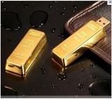 golden usb flash drive Metal pen drive 4GB 8GB 16GB 32GB 64GB Gold Bar USB2.0 Flash memory pendrive Bullion Stick disk gift