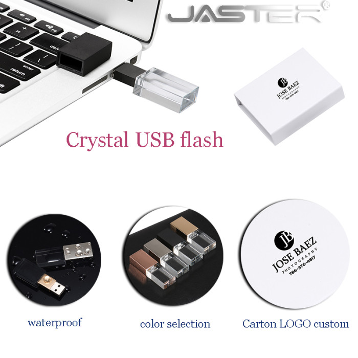 New rose gold Crystal gold usb with box usb 2.0 memory flash stick pen drive Custom Logo( over 10 pieces free LOGO)U disk