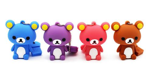 Cartoon 64GB cute Mini bear USB Flash Drive 4GB 8GB 16GB 32GB Pendrive USB 2.0 Usb stick