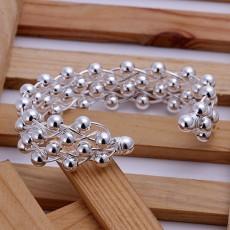 wholesale fashion women Silver color jewelry exquisite charm women lady bangle grapes spherical bracelet B022