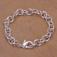 5p Chain men women Silver color Jewelry High quality Bracelet factory price free shipping , H089